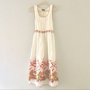 Max Edition White Floral Sleeveless Maxi Dress